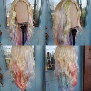 Custom dyed rainbow unit for Rebecca